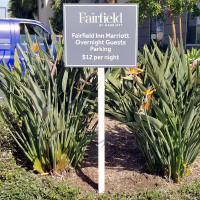 Hotel Signage Directional Sign Marriott Parking Sign Caliber Signs and Imaging 1