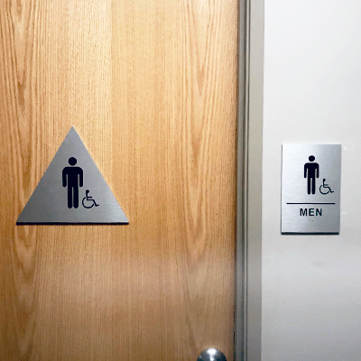Men Restrooms Door and Wall Signs Caliber Signs and Imaging 1