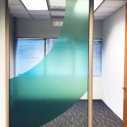 Office Window Graphics Color Shapes on Office Glass Protempo Caliber Signs and Imaging 1