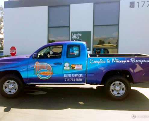 Pick up Truck Wrap Anaheim RV Caliber Signs and Imaging