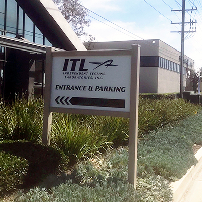 Post Panel Sign ITL Irvine CA Caliber Signs and Imaging 1