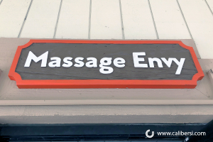 Sandblast Exterior Sign Massage Envy Orange CA Caliber Signs and Imaging