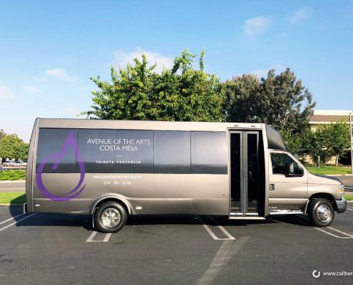Shuttle Wrap Hotel Fleet Costa Mesa CA Caliber Signs and Imaging