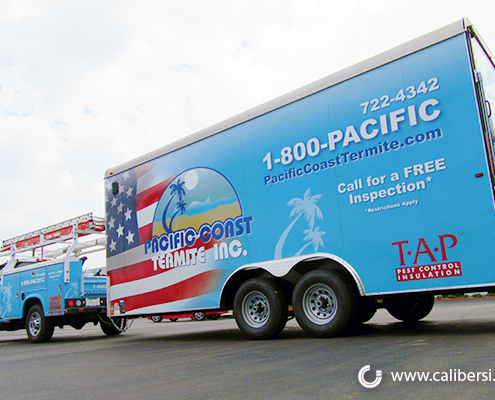 Trailer Wrap Truck Image Pacific Coast Termite Caliber Signs and Imaging
