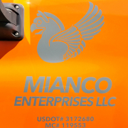 Truck Vinyl Graphics Vehicle Identification Sign Mianco Enterprises Custom Sign Caliber Signs and Imaging
