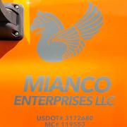 Truck Vinyl Graphics Vehicle Identification Sign Mianco Enterprises Custom Sign Caliber Signs and Imaging
