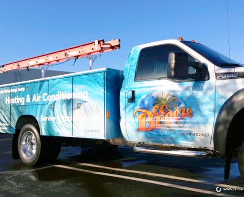 Truck Wraps Full Color Print OC Breeze Caliber Signs and Imaging