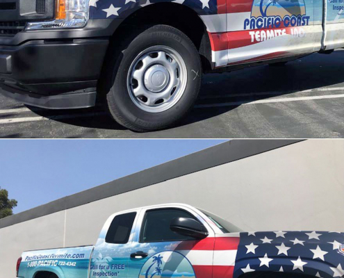 Truck Wraps Pacific Coast Termite Caliber Signs and Imaging