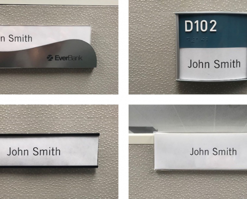 Types of Cubicle Signs or Name Plates Caliber Signs and Imaging
