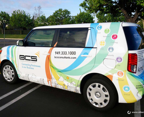 Vehicle Full Wrap BCS Consultants Caliber Signs and Imaging