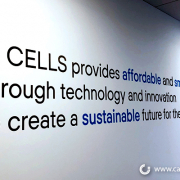 Vinyl Lettering Mission Statement Sign Q Cells Caliber Signs and Imaging