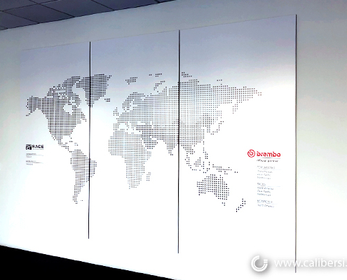 Wall Mural Digital Print High Quality Sign World Map Sign RaceTechnologies Irvine CA Caliber Signs and Imaging