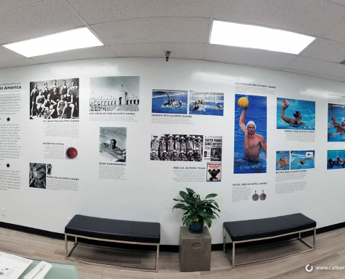 Wall Mural USA Water Polo Caliber Signs