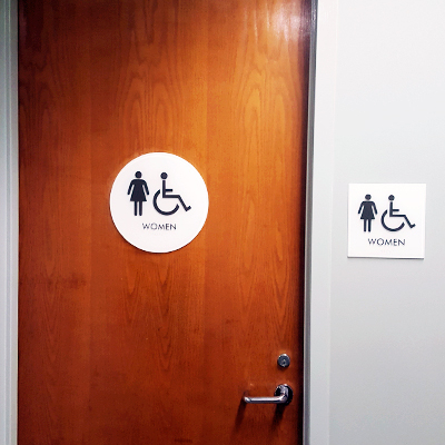 Women Restrooms Door and Wall Signs Caliber Signs and Imaging 1