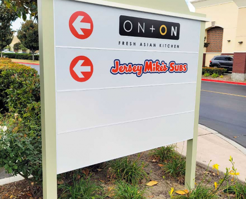 Aluminum Post and Panel Tenant Signs for Shopping Centers