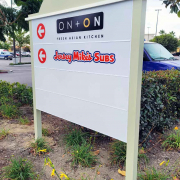 Aluminum Tenant Monument Signs for Strip Malls in Orange County CA