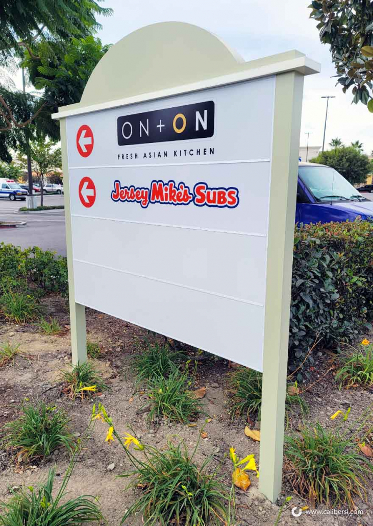 Shopping Center Tenant Signs for Property Managers in Orange County CA