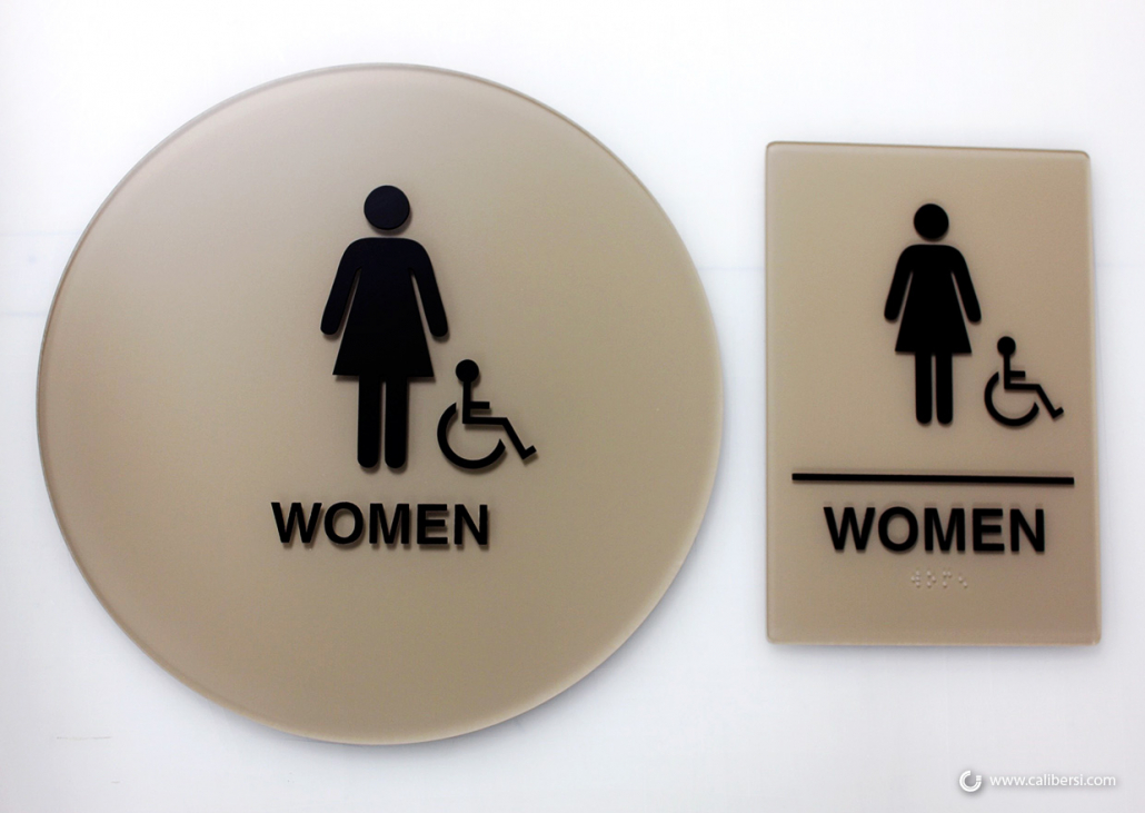 California ADA Restroom Sign Examples