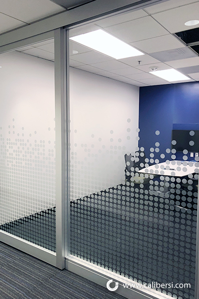Frosted Vinyl Distraction Graphics and Dots in Orange County CA