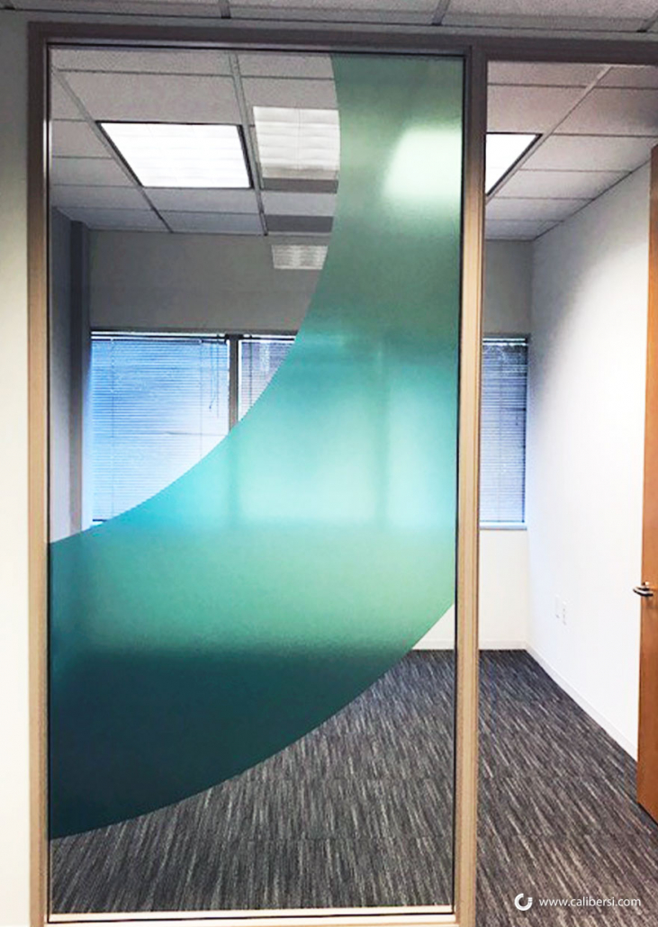 Office Window Glass Distraction Graphics in Orange County CA