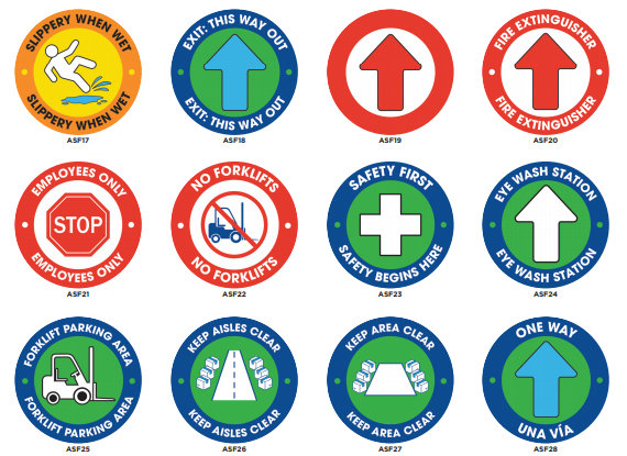 Anti slip floor signs for workplaces and warehouses