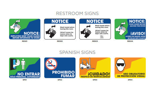 Office Restroom Signs in English and Spanish Orange County CA