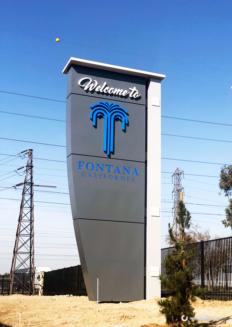 The City of Fontana Gets a New Monument Sign