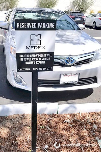 Reserved Parking Signs in Orange County CA
