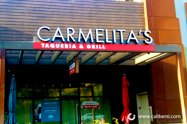 3D Letter Building Signs for Restaurants in Orange County CA