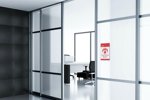 Vista Systems Sharp Room Signs