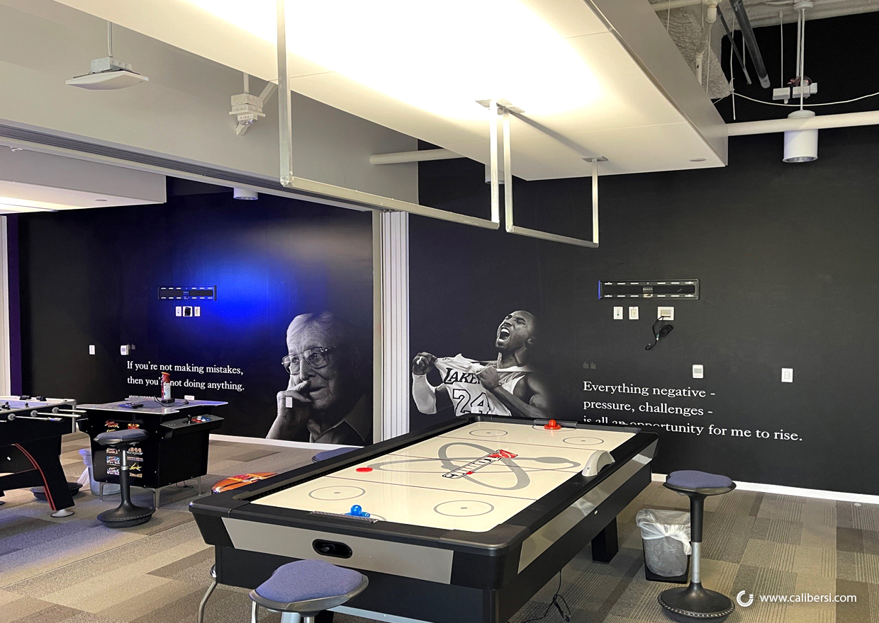 Inspire employees with office wall murals in the OC