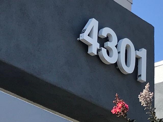Building Address Numbers in Irvine CA