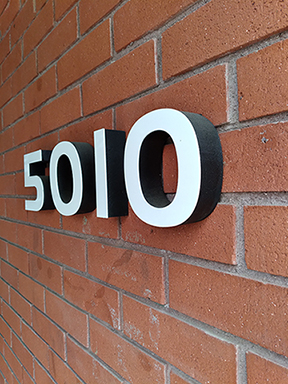 building sign numbers in Orange County CA