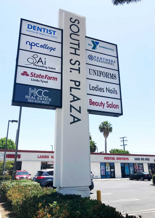 Pylon Before and after signage restorations in Orange County CA