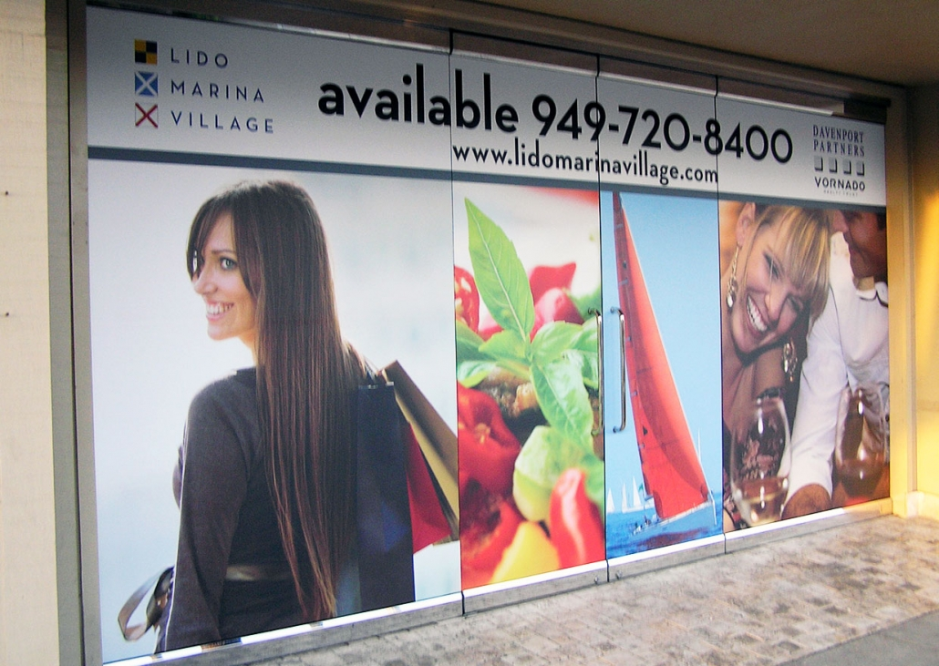 For Lease Window Graphics for Property Managers in Orange County CA